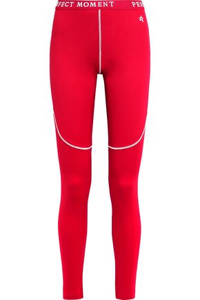 PERFECT MOMENT Stretch-jersey ski leggings