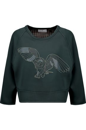 ADIDAS by STELLA McCARTNEY We embroidered appliquéd neoprene and twill sweatshirt