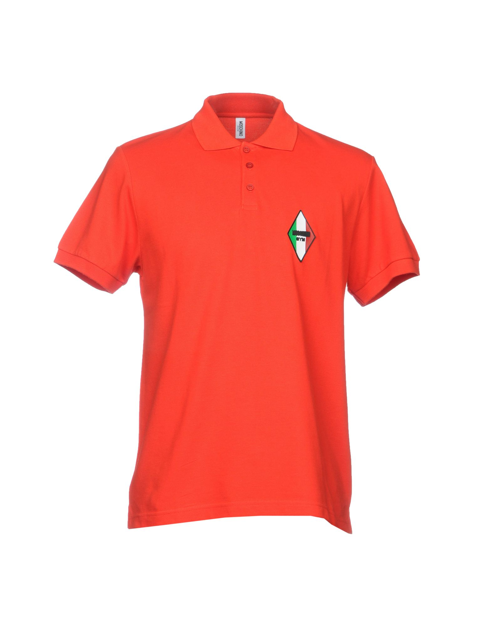 MOSCHINO SWIM Polo Shirt in Red