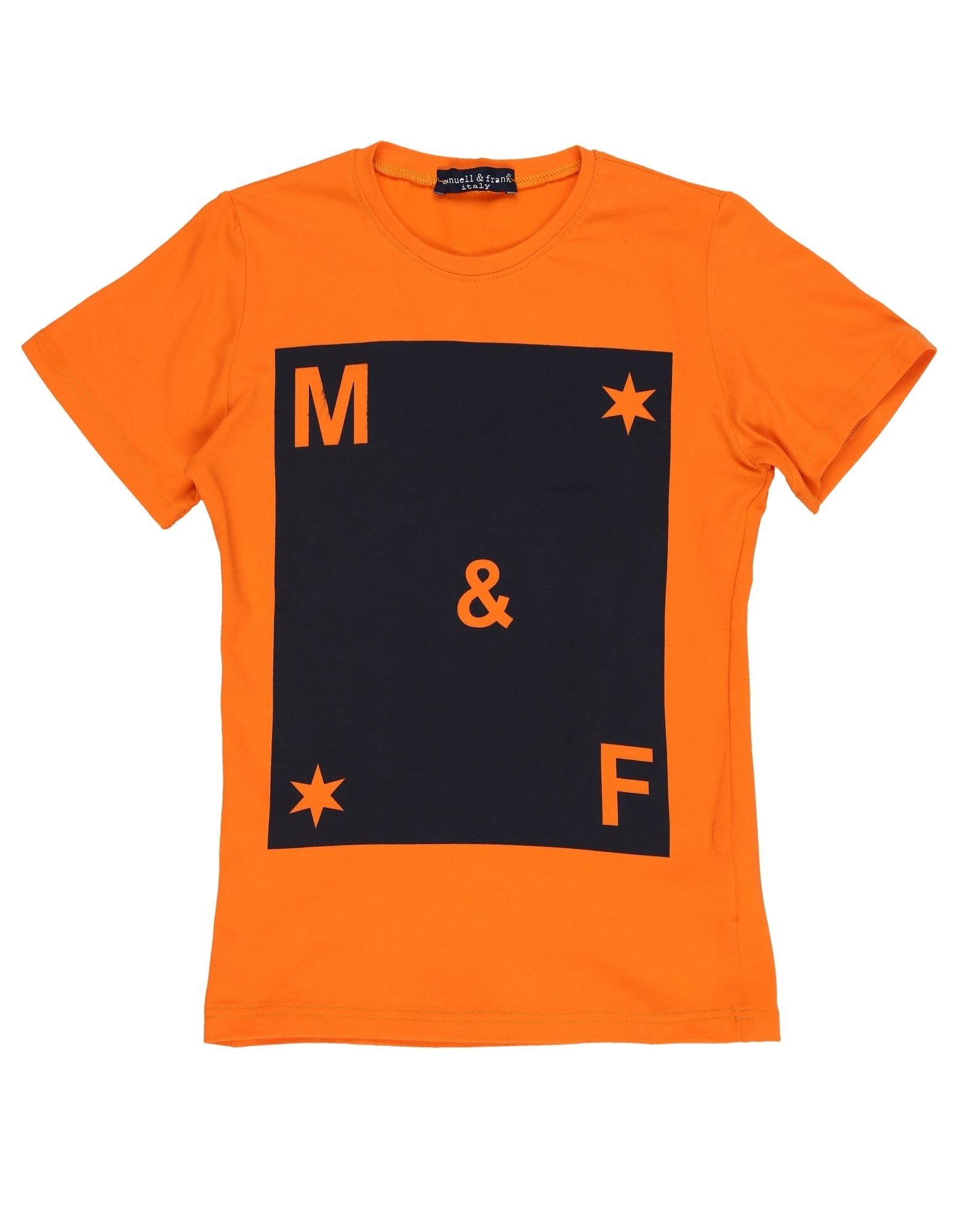 MANUELL & FRANK Jungen 9-16 jahre T-shirts Farbe Orange Größe 10