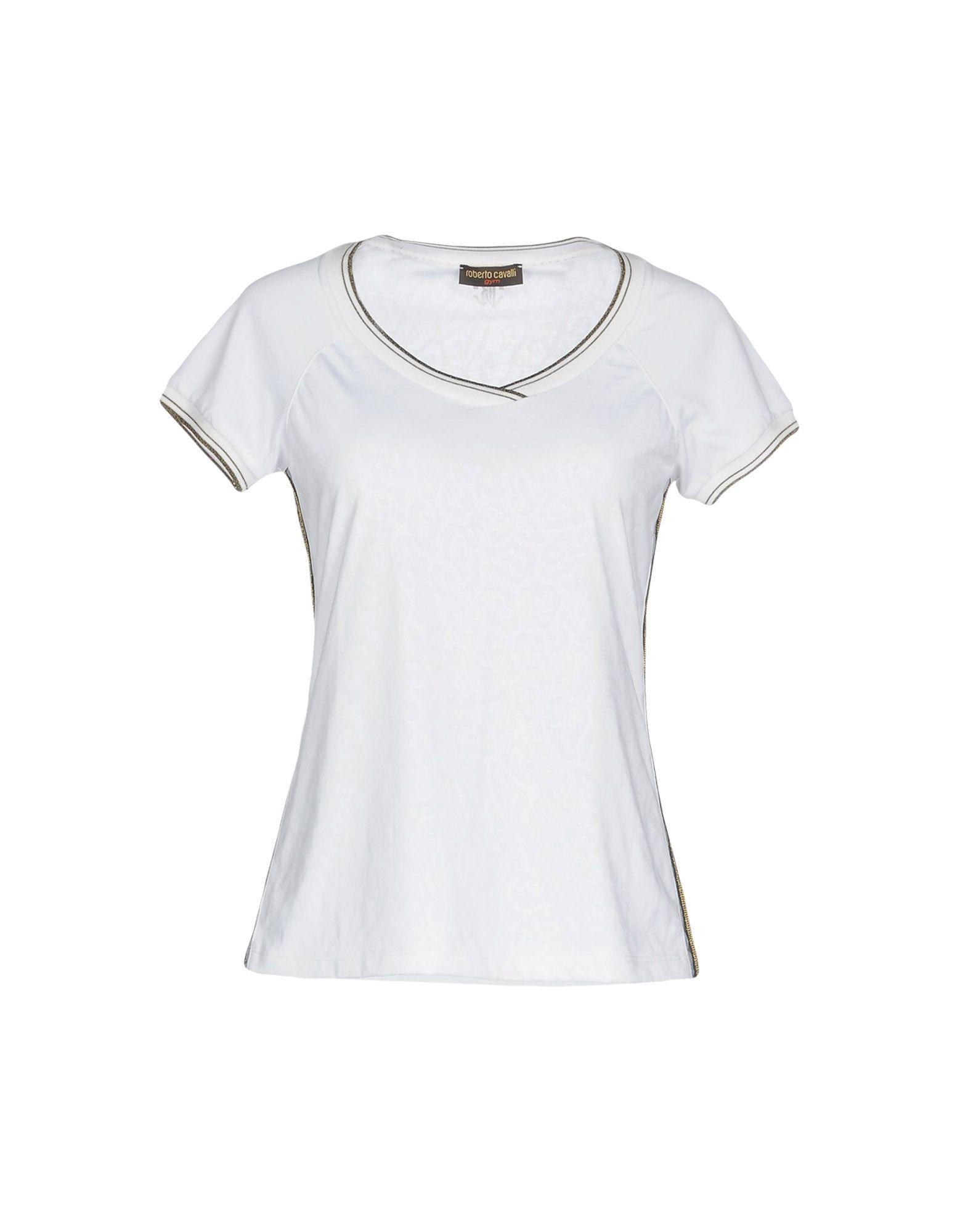 《送料無料》ROBERTO CAVALLI GYM レディース T シャツ ホワイト XL レーヨン 100%