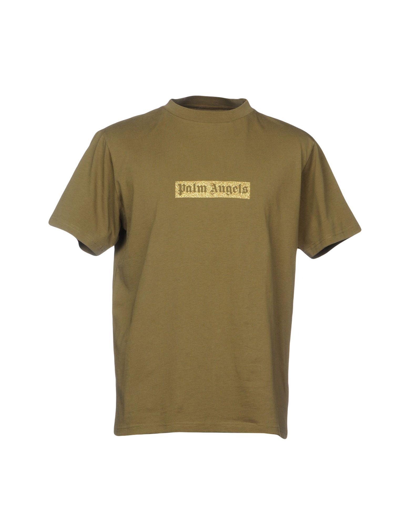 《送料無料》PALM ANGELS メンズ T シャツ ミリタリーグリーン XS コットン 100%