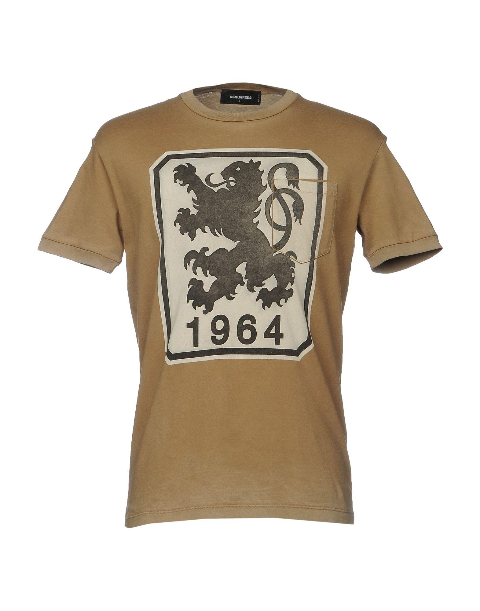DSQUARED2 Herren T-shirts Farbe Sand Größe 6