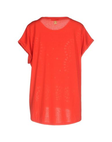 Фото 2 - Женскую футболку ROBERTO CAVALLI GYM красного цвета