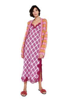 ALBERTA FERRETTI Maxi cardigan with yellow stripes Cardigan Woman f