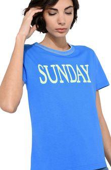 ALBERTA FERRETTI Sunday fluo T-shirt T-shirt Woman a