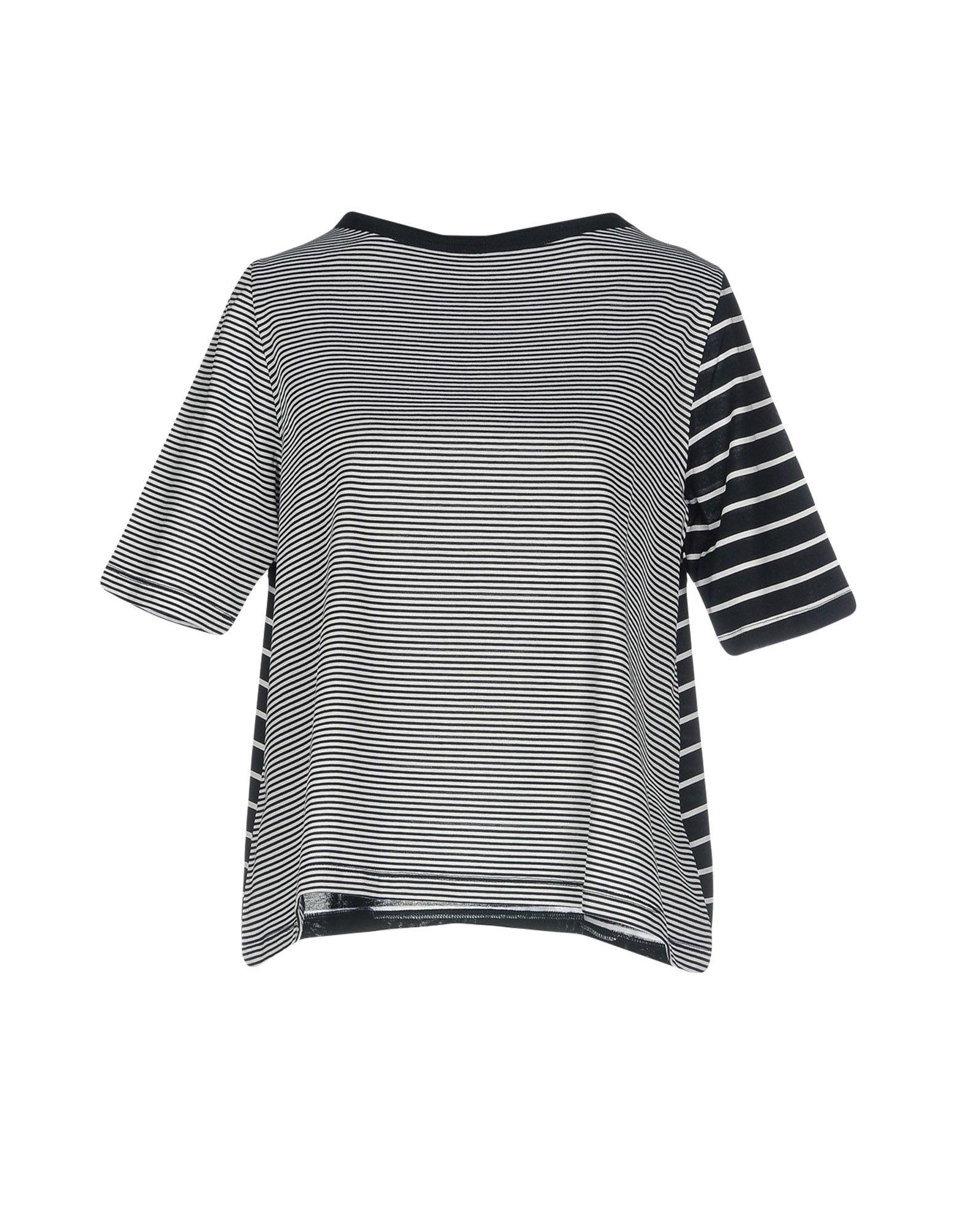 KNIT KNIT Футболка ruffle shoulder rib knit peplum top