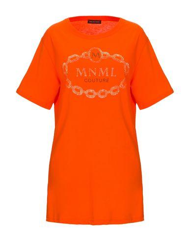 Купить Женскую футболку MNML COUTURE оранжевого цвета