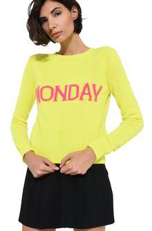 ALBERTA FERRETTI Monday fluo sweater KNITWEAR Woman a