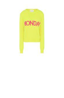 ALBERTA FERRETTI Monday fluo sweater KNITWEAR Woman e