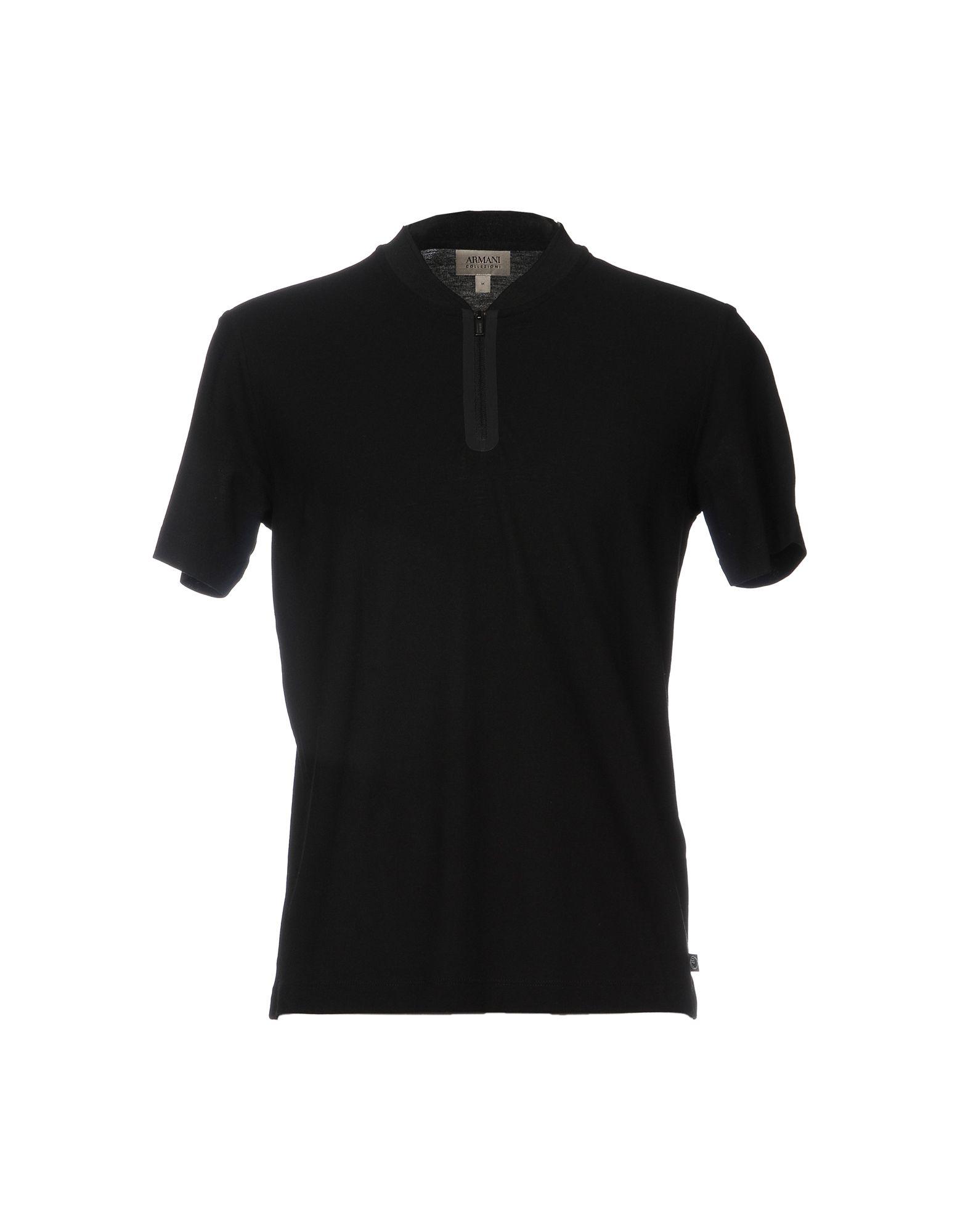 《セール開催中》ARMANI COLLEZIONI メンズ T シャツ ブラック M コットン 100%