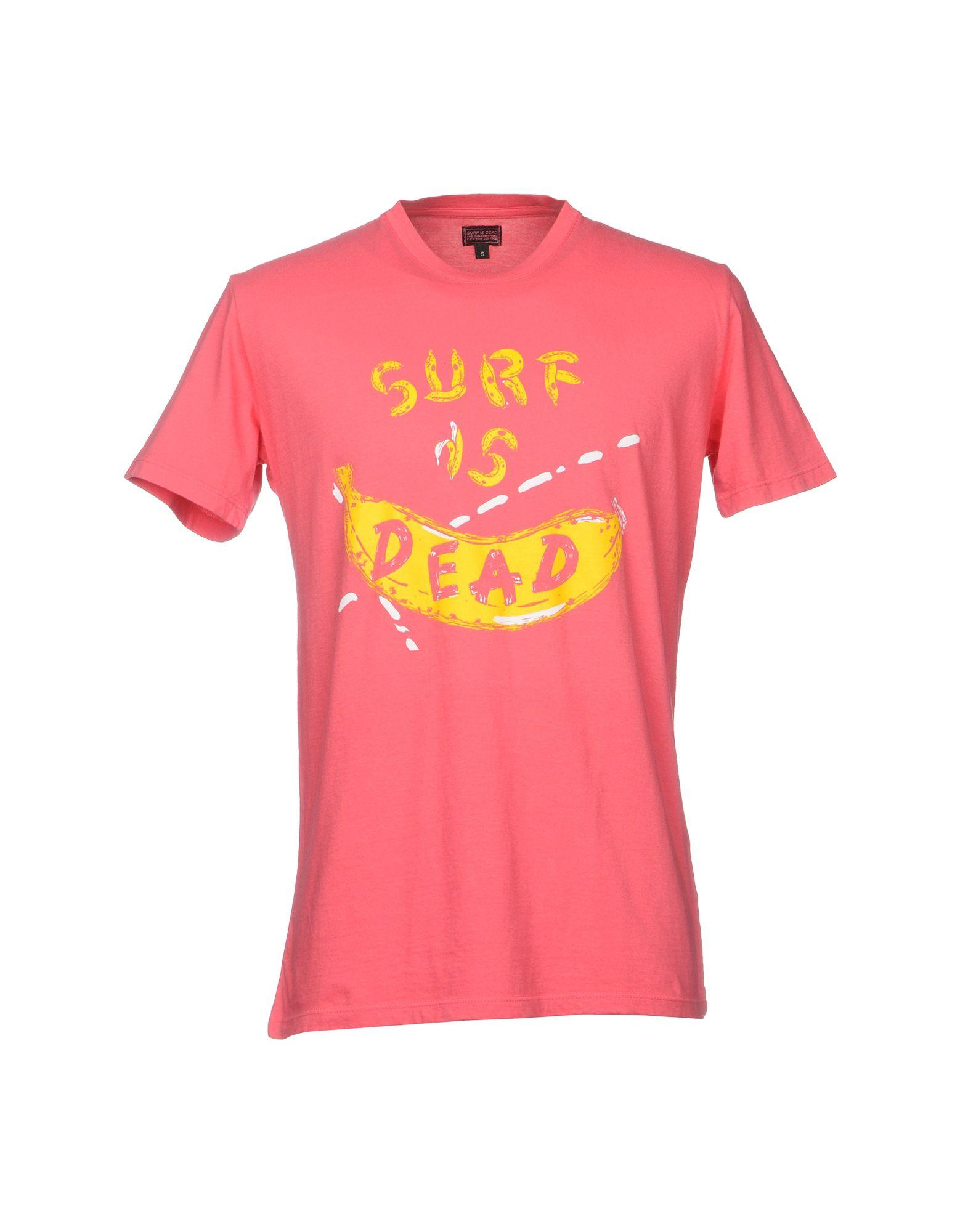 《送料無料》SURF IS DEAD メンズ T シャツ コーラル S コットン 100%