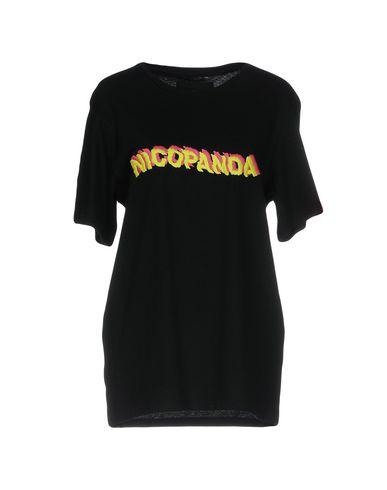 Фото - Женскую футболку NICOPANDA черного цвета