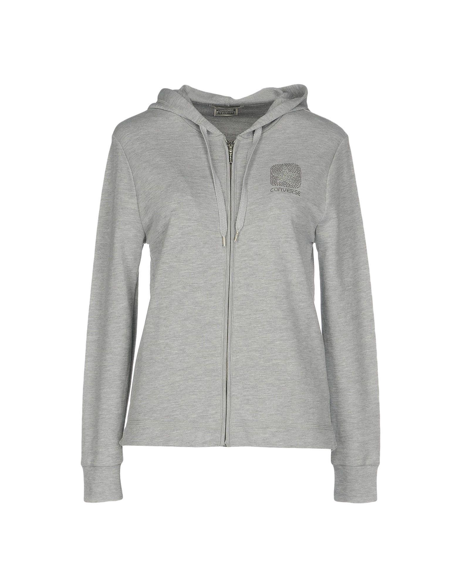 CONVERSE ALL STAR Damen Sweatshirt Farbe Grau Größe 4