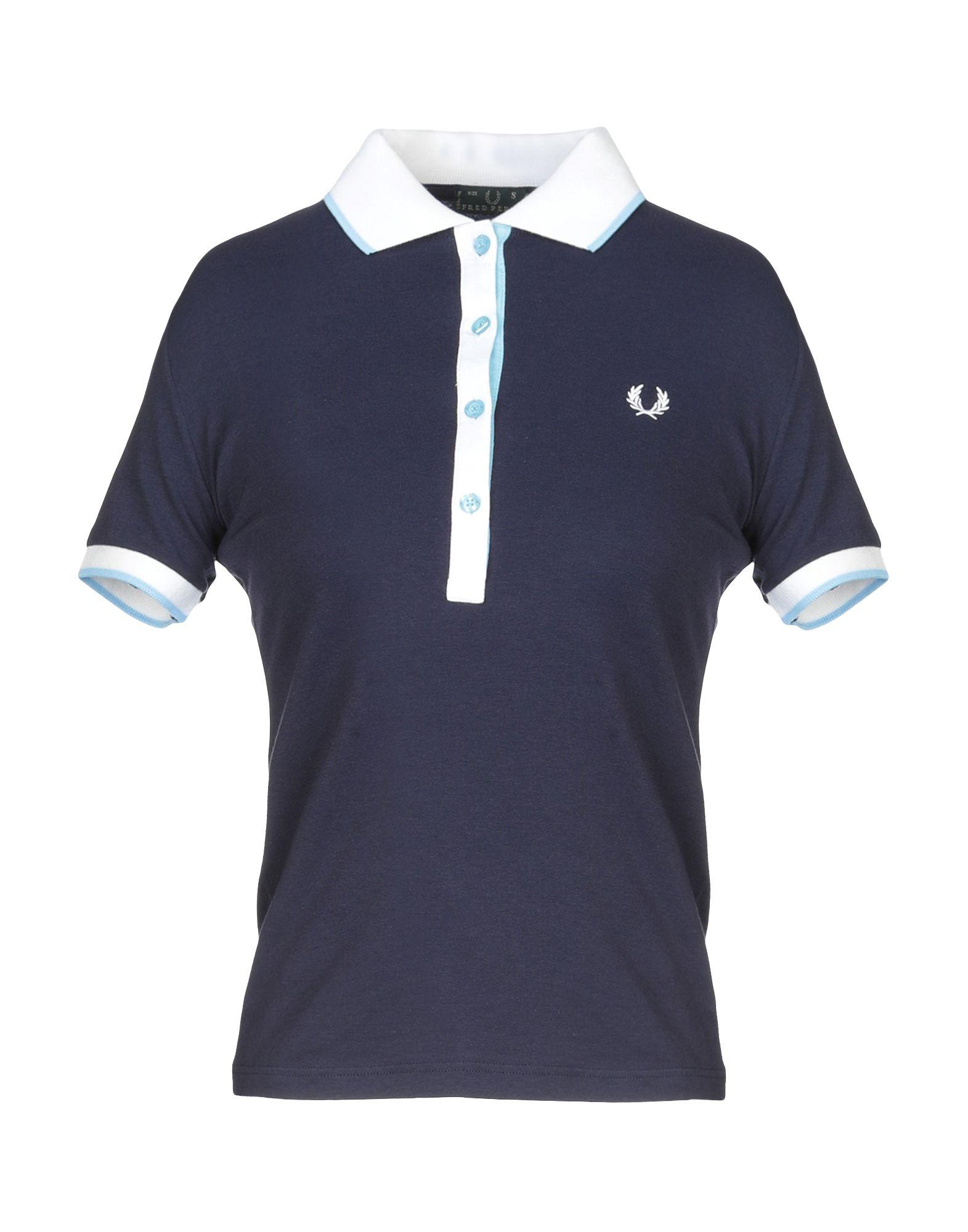 a5d101c53308a1 《セール開催中》FRED PERRY レディース ポロシャツ ダークブルー S コットン 95% / ポリウレタン 5%