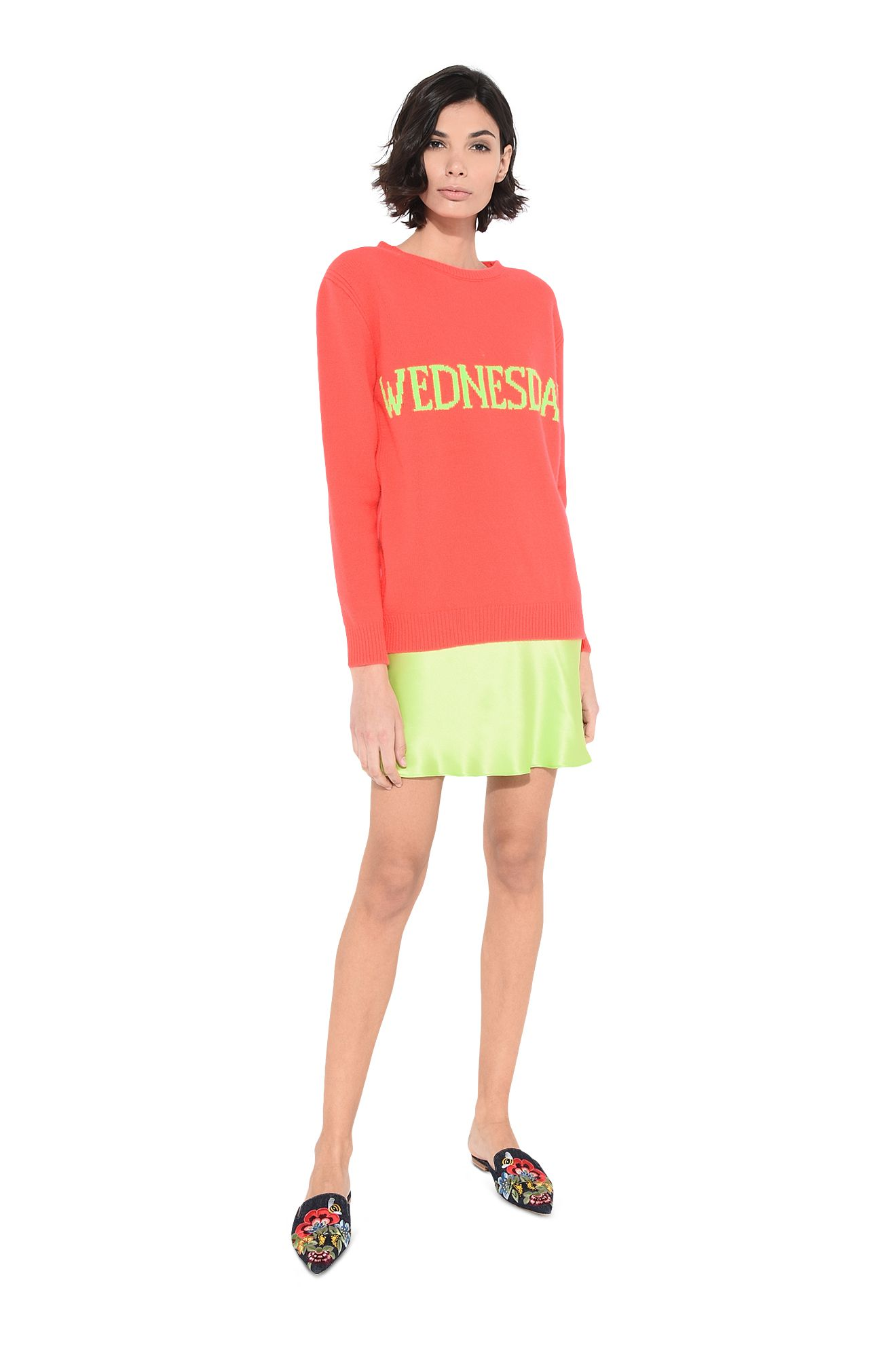 Wednesday fluo sweater
