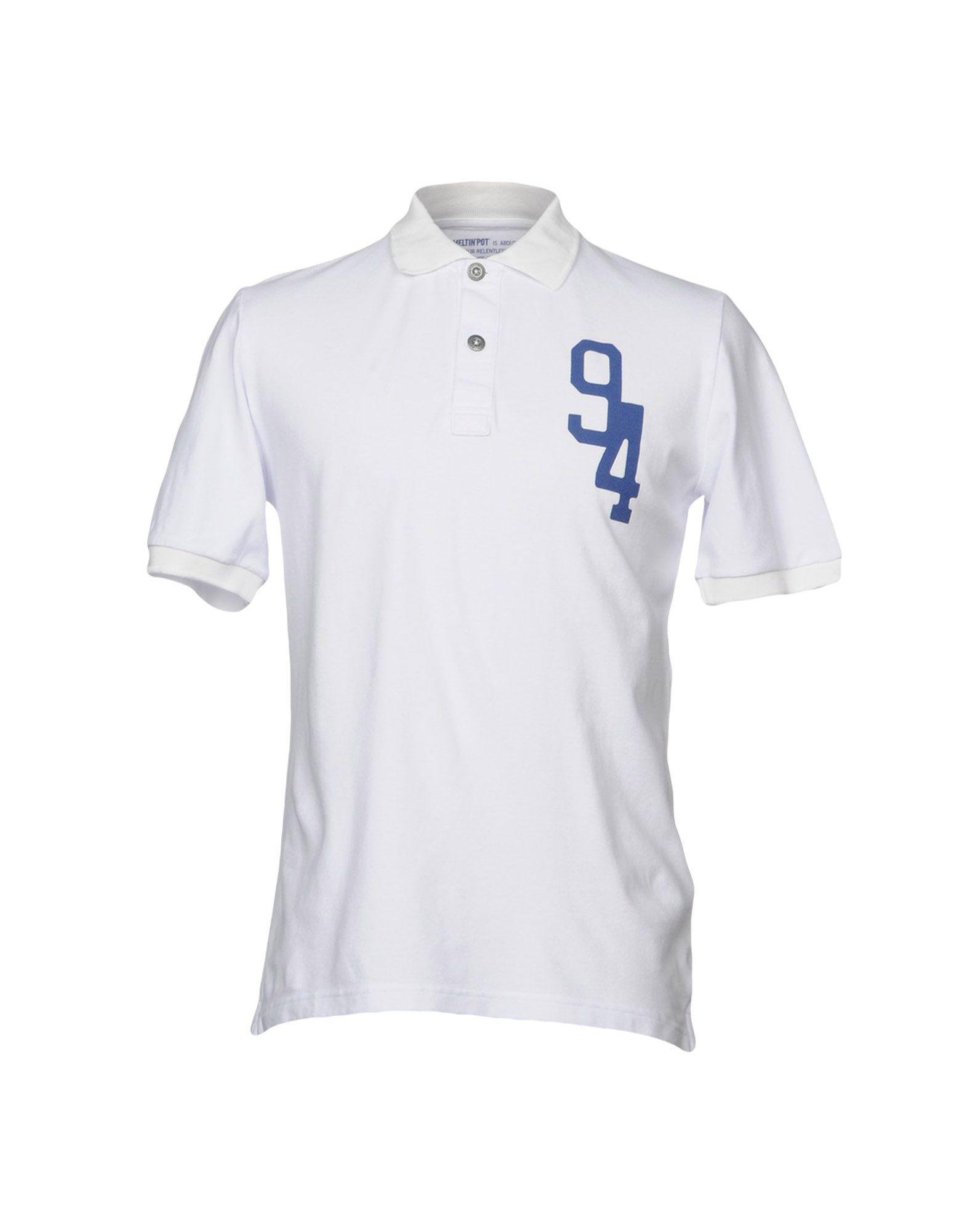 《送料無料》MELTIN POT メンズ ポロシャツ ホワイト S コットン 100%