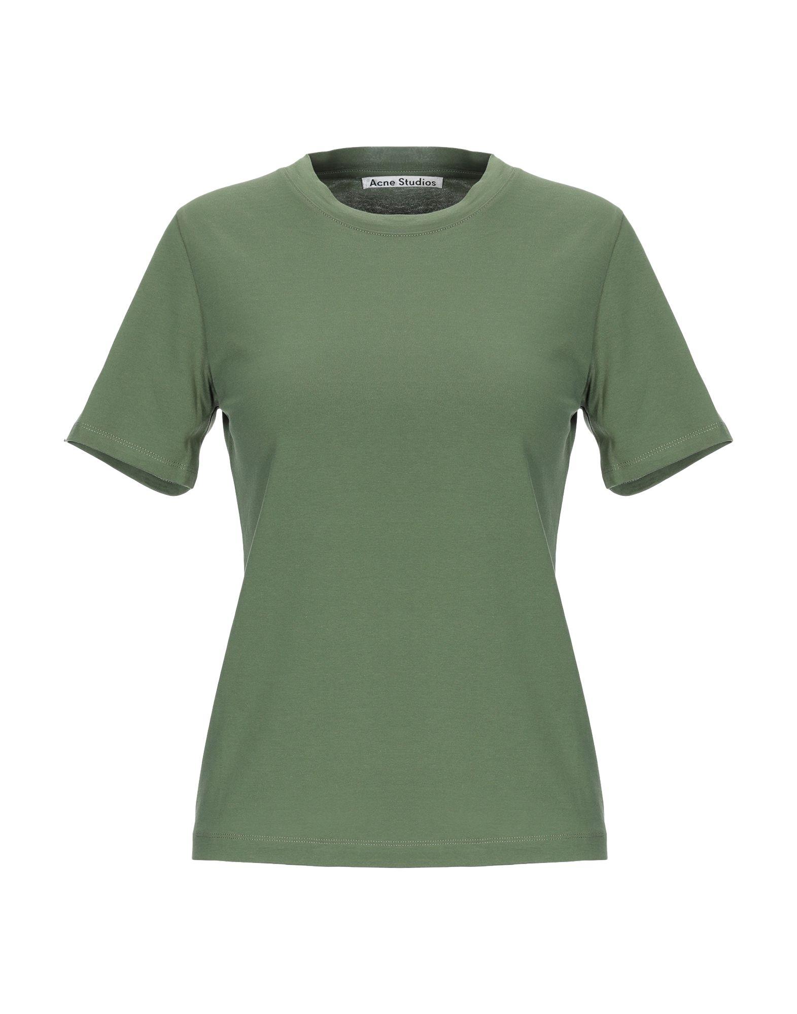 ACNE STUDIOS Футболка acne studios зеленая хлопковая футболка nash