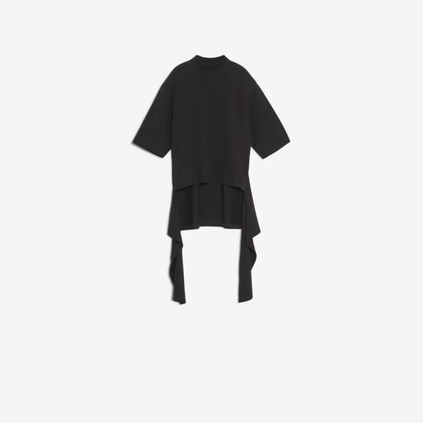 Drapiertes Kurzarm-Sweatshirt
