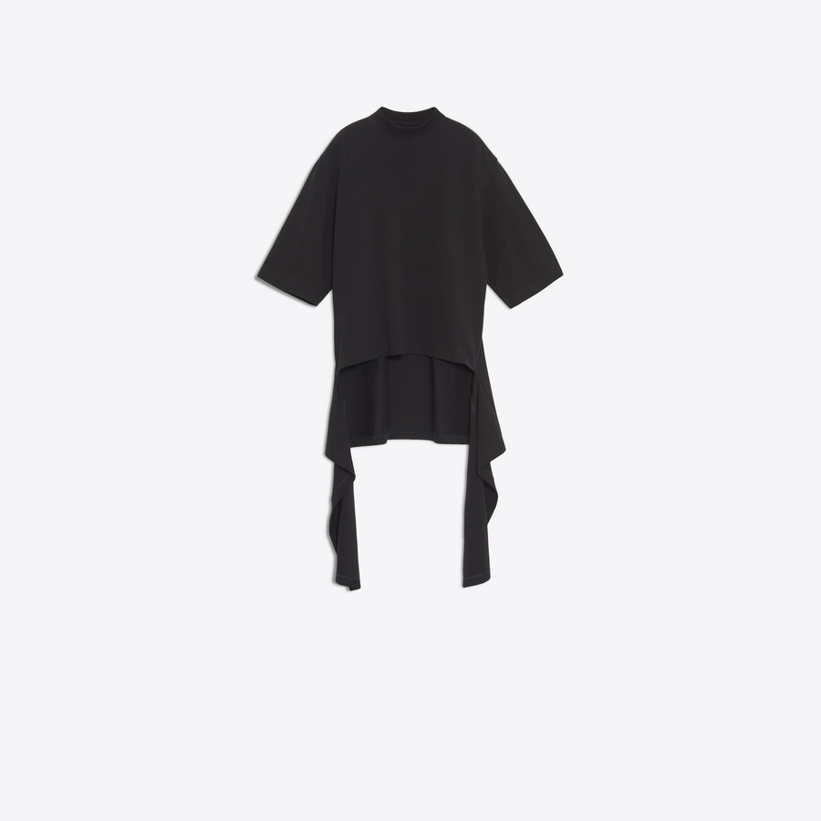 BALENCIAGA Draped Short Sleeves Sweater JERSEY D f