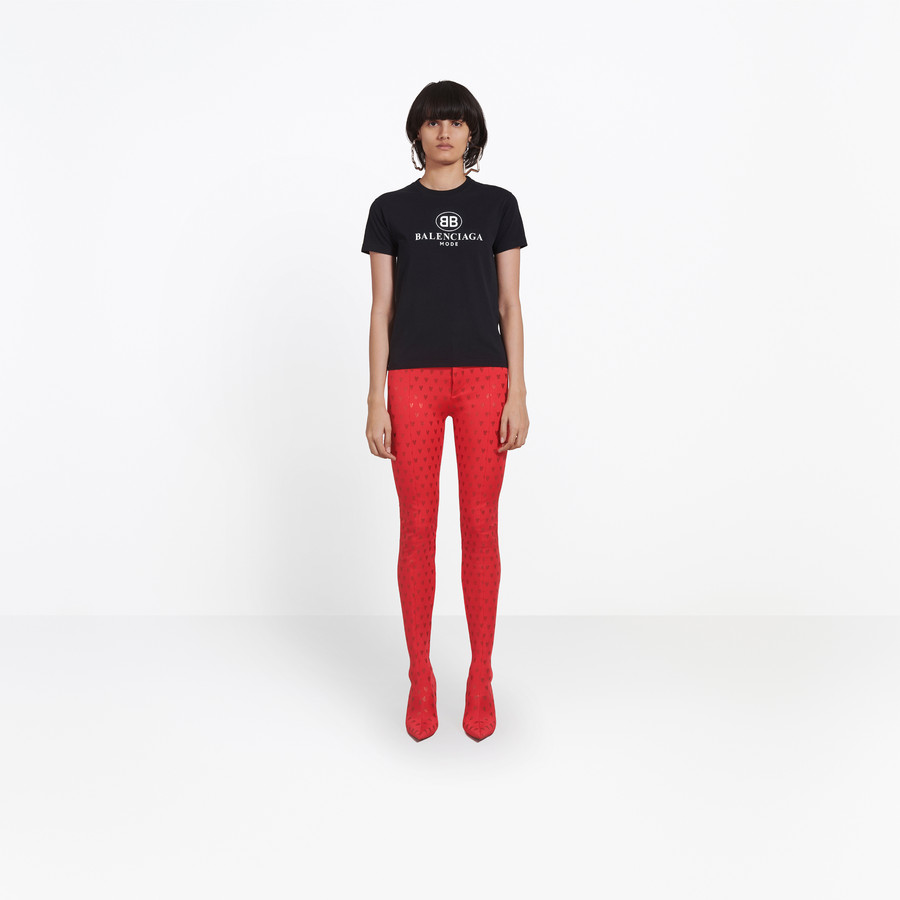 BALENCIAGA BB Mode Semi Fitted T-shirt JERSEY Woman g