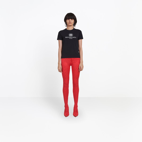 BALENCIAGA JERSEY Woman BB Mode Semi Fitted T-shirt g