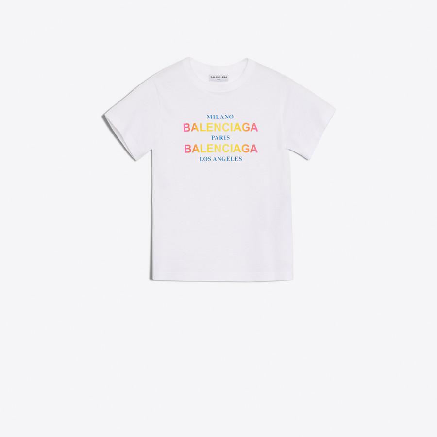 BALENCIAGA Cities Semi Fitted T-Shirt JERSEY Woman f