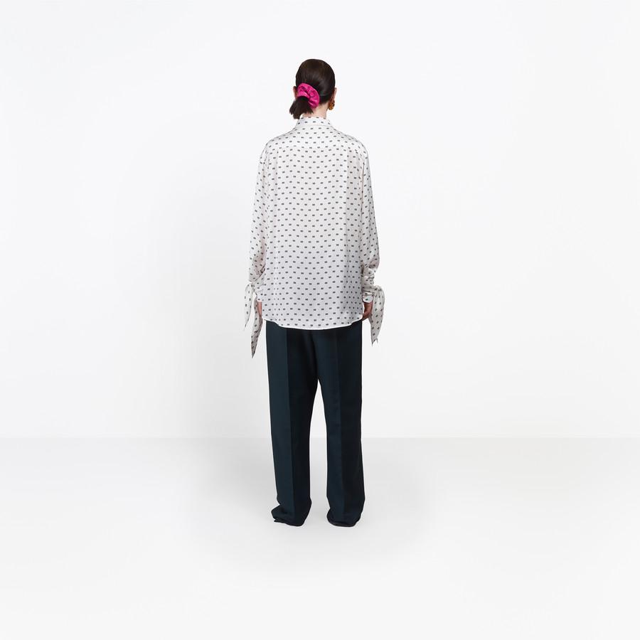 BALENCIAGA Knotted Cuff Shirt Top D d