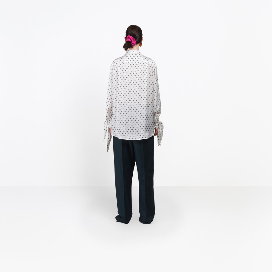BALENCIAGA Knotted Cuff Shirt Top D i