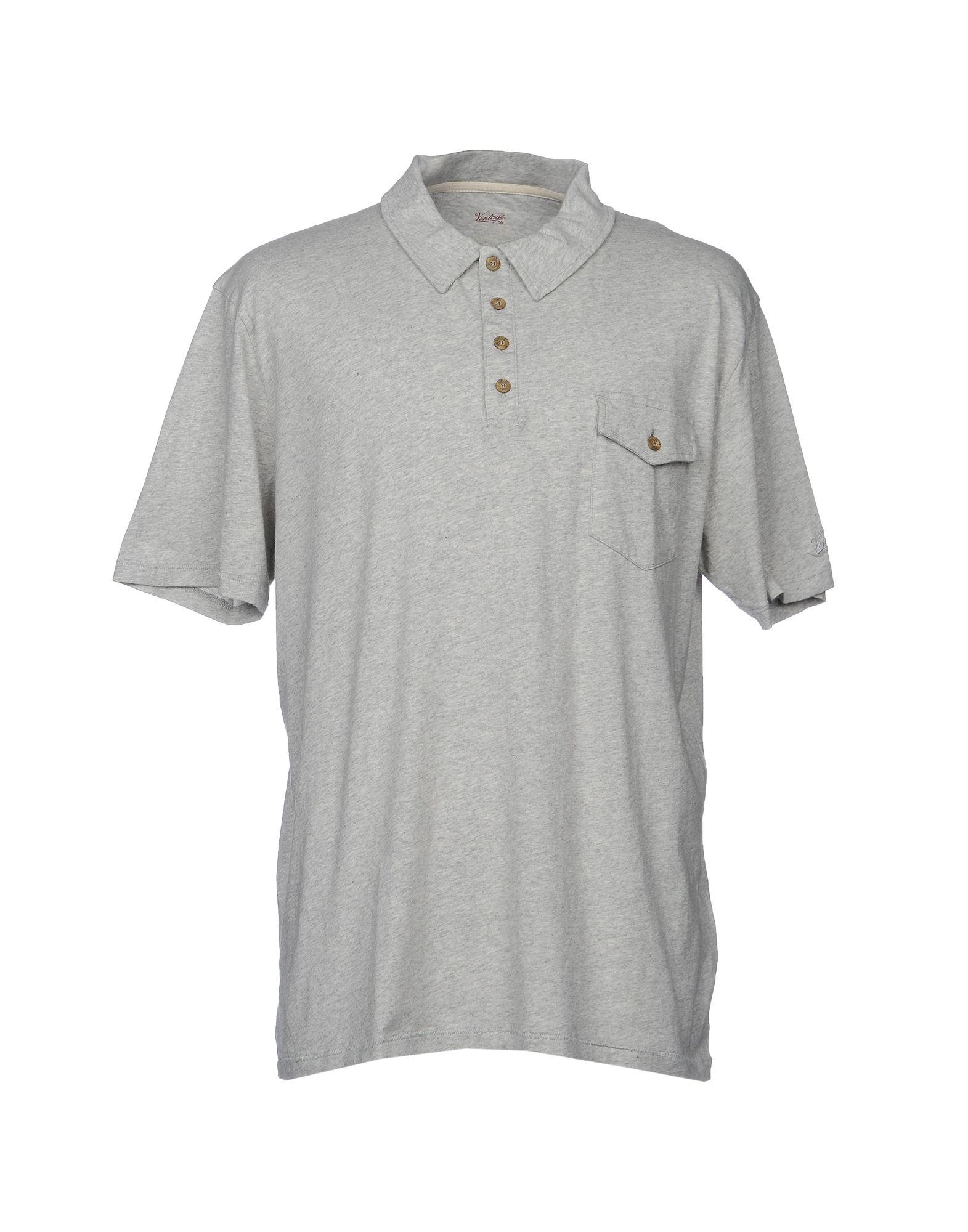 《送料無料》VINTAGE 55 メンズ ポロシャツ ライトグレー XXL コットン 100%