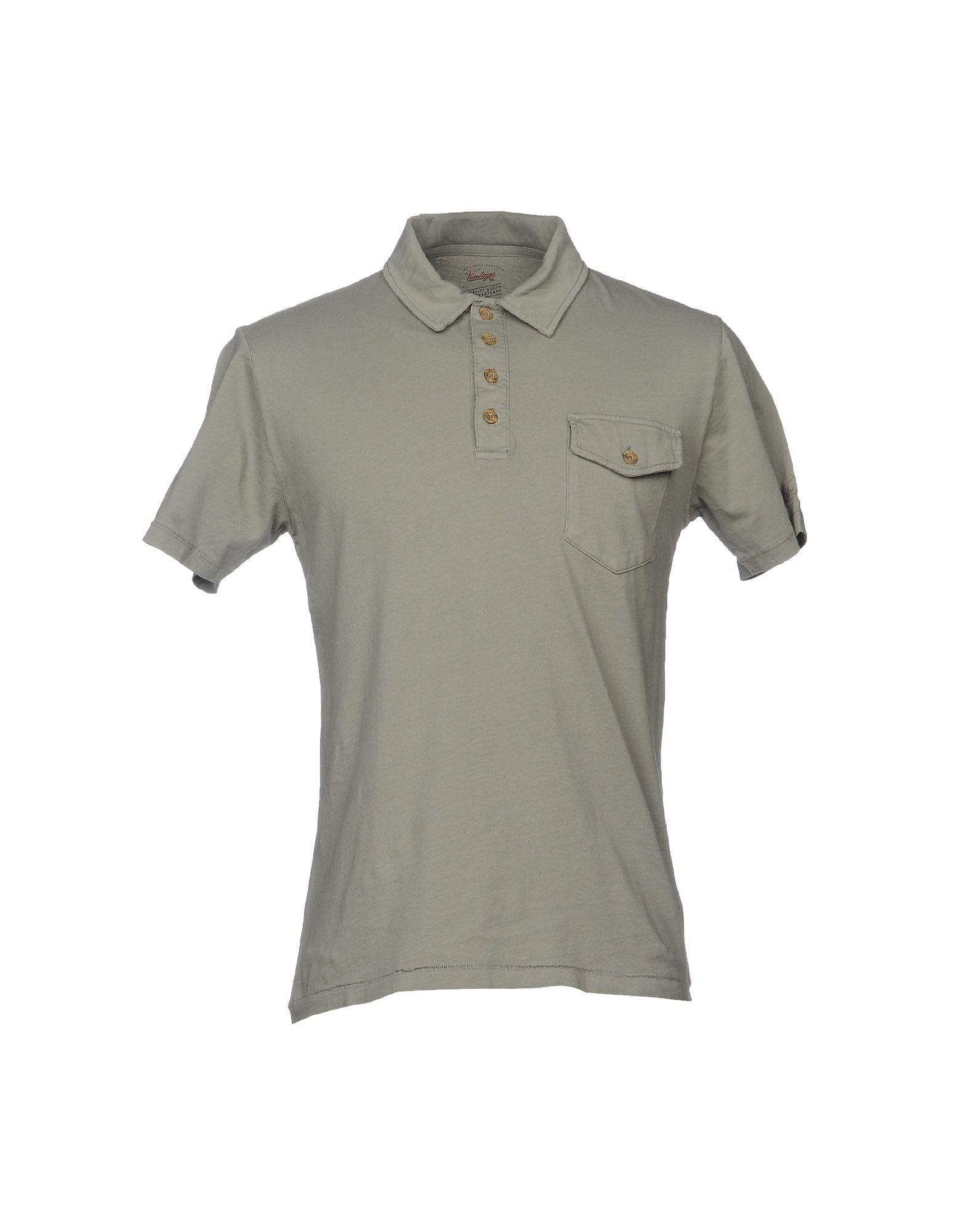 《送料無料》VINTAGE 55 メンズ ポロシャツ ミリタリーグリーン XS コットン 100%