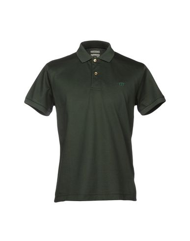 Фото - Мужское поло  темно-зеленого цвета