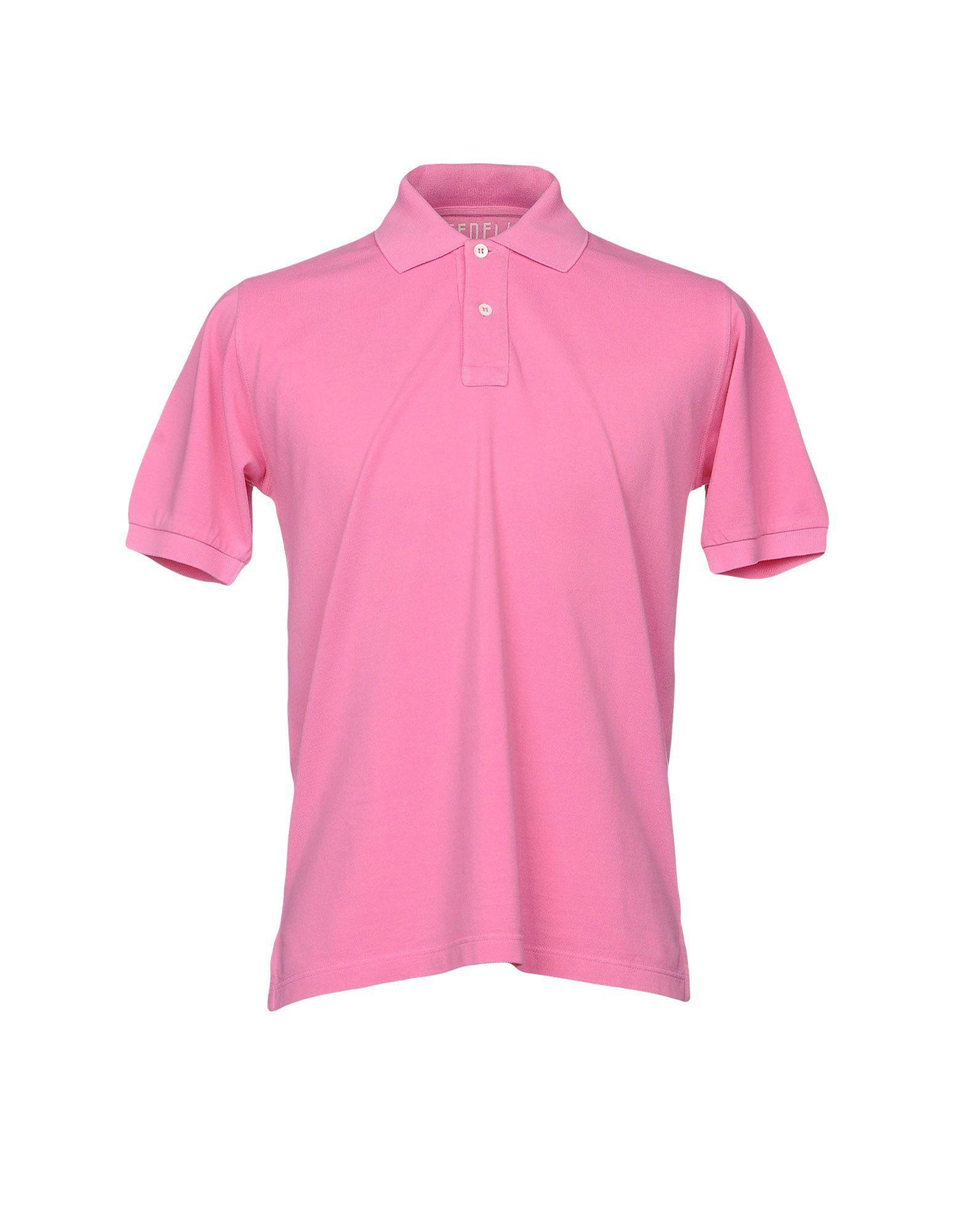 《送料無料》FEDELI メンズ ポロシャツ ピンク 50 コットン 100%
