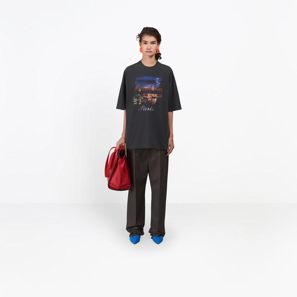 BALENCIAGA JERSEY Woman Paris Short Sleeves T-Shirt g