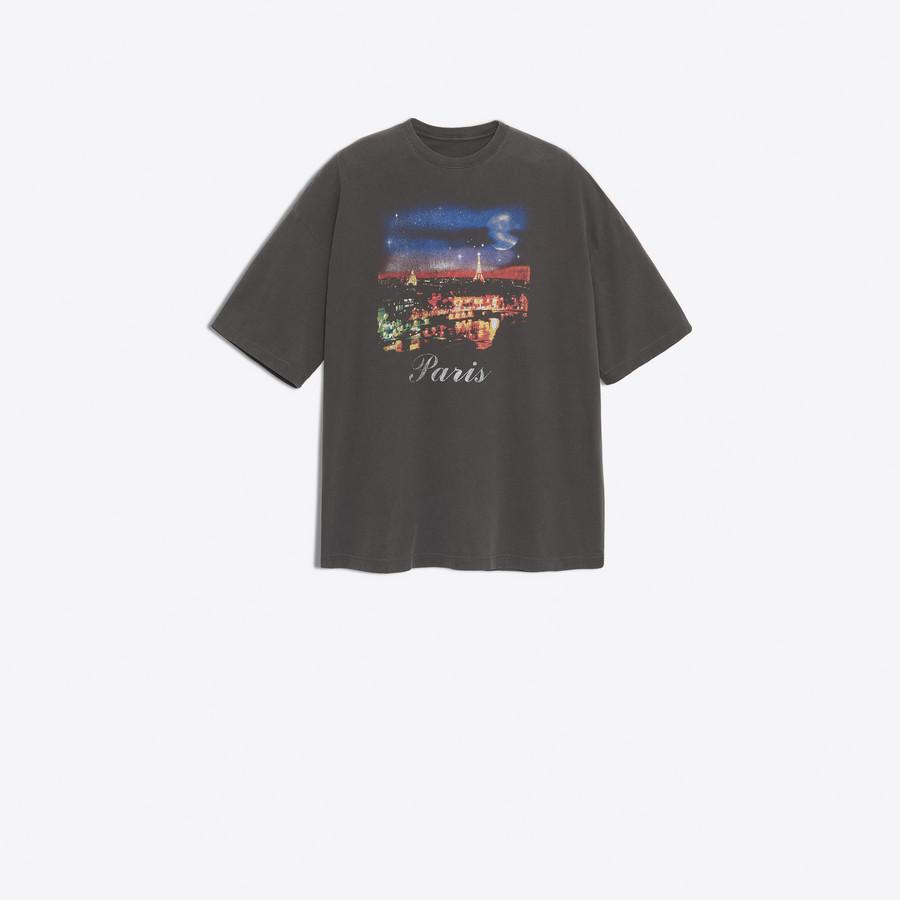 BALENCIAGA Paris Short Sleeves T-Shirt JERSEY Woman f