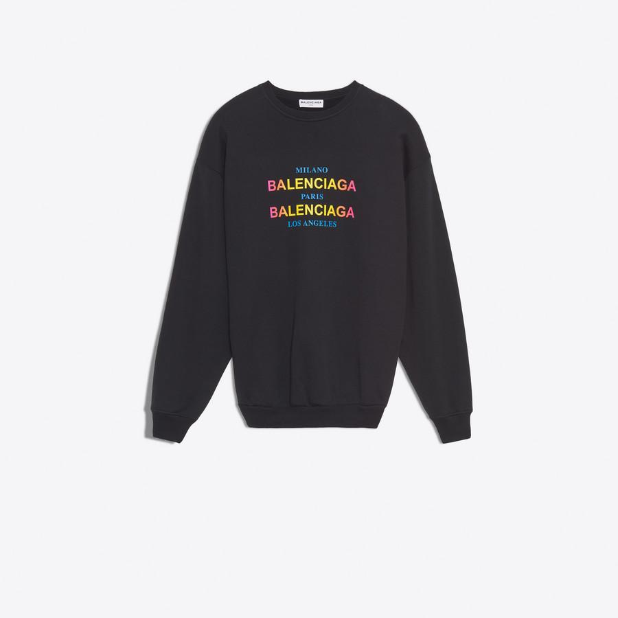 BALENCIAGA Cities Hoodie Sweater JERSEY Woman f