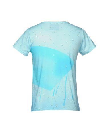 Фото 2 - Женскую футболку  небесно-голубого цвета