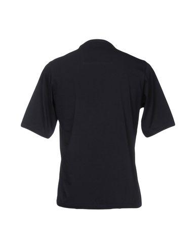 Фото 2 - Женскую футболку CAMO темно-синего цвета
