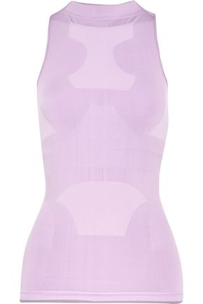ADIDAS by STELLA McCARTNEY Rib-paneled stretch-jersey tank