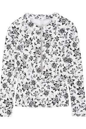 ADIDAS by STELLA McCARTNEY Floral-print stretch rash guard