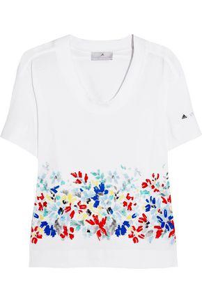 ADIDAS by STELLA McCARTNEY Printed cotton-jersey T-shirt