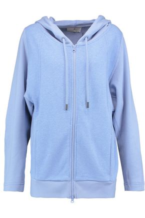 ADIDAS by STELLA McCARTNEY Paneled cotton-jersey hooded top