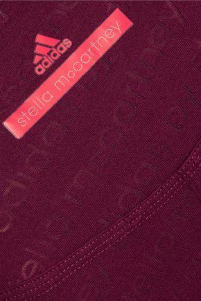 ADIDAS by STELLA McCARTNEY Cool Logo burnout cotton-blend T-shirt