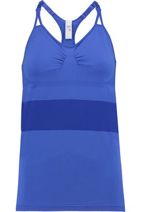 ADIDAS by STELLA McCARTNEY Mesh-trimmed stretch-jersey tank