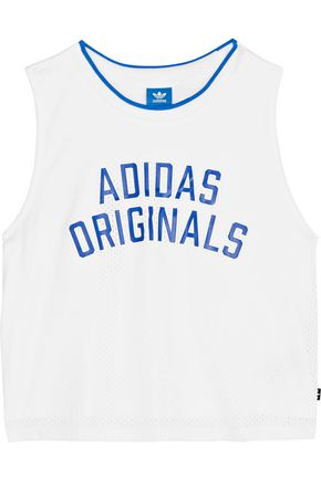 ADIDAS ORIGINALS Printed perforated jersey tank
