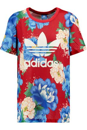 ADIDAS ORIGINALS Floral-print jersey T-shirt