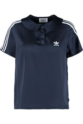 ADIDAS ORIGINALS Striped shell polo shirt