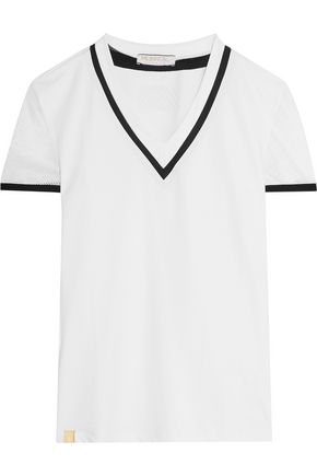 MONREAL LONDON Mesh-panelled stretch top