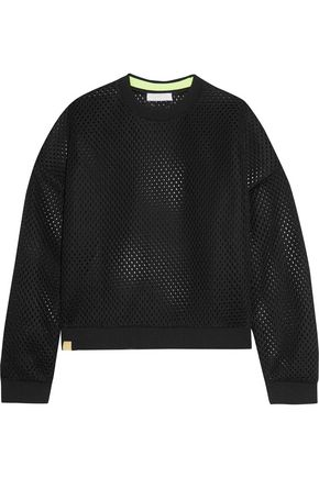 MONREAL LONDON Perforated stretch-knit sweatshirt
