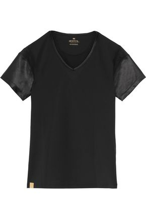 MONREAL LONDON Desert satin-paneled jersey T-shirt